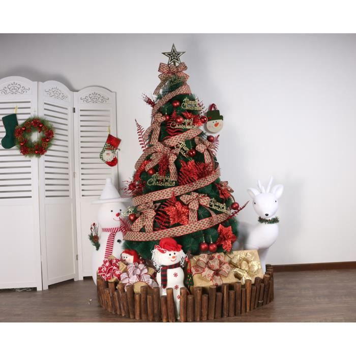 Lot Sapin Luxe Décoration Noel Diverses Occasions 1 Sapin 15mruban