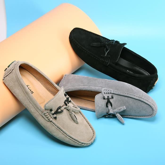 Moccasins Hommes Classique Beau Doux Chaussure Confortable Moccasin Antidérapant Léger Extravagant Grande Taille 38-44
