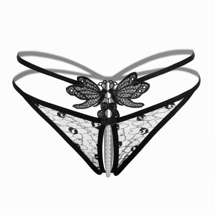 Noir Culottes Dentelle Orlashop Pantalon Pour vêtements Sous Bragas Femmes Mot String Briefs Sexy gBBxp7wOq