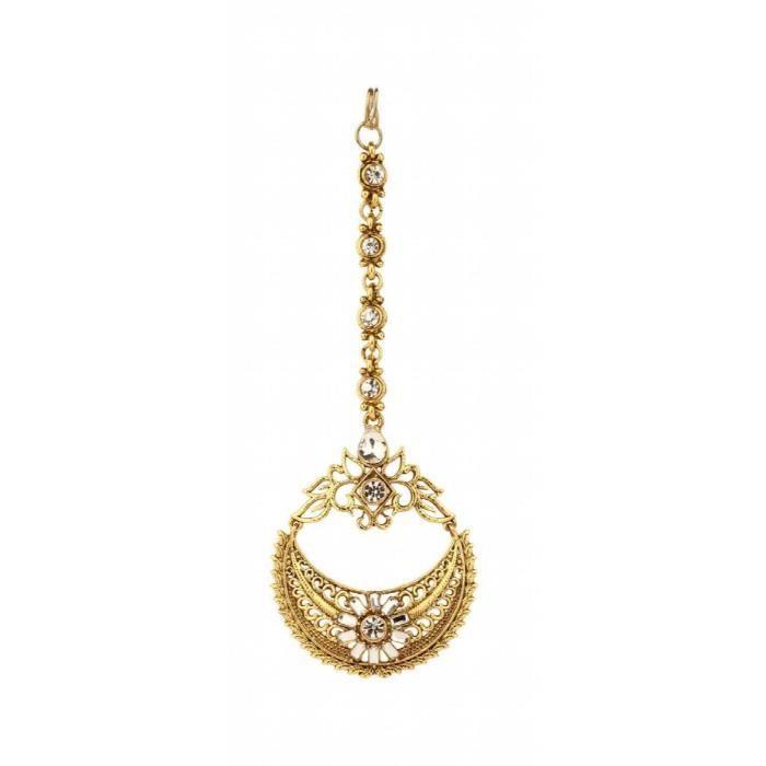 Or traditionnel plaqué de femmes Boucle doreille Bague réglable g Tikka Combo Set pour adolescents etQUG8X