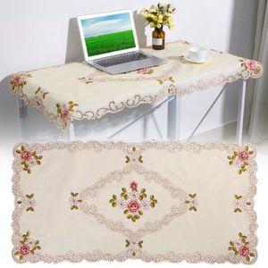 NAPPE DE TABLE Nappe rectangulaire brodé floral Housse de table p