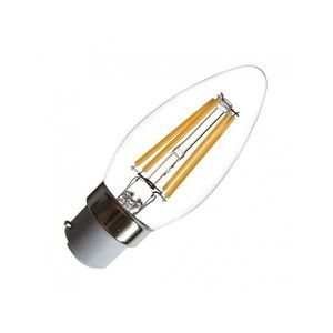 AMPOULE - LED Ampoule LED B22 Filament Flamme 4W 2700°K