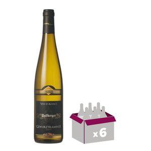 VIN BLANC Gewurztraminer Wolfberger 75cl - Vin blanc x6