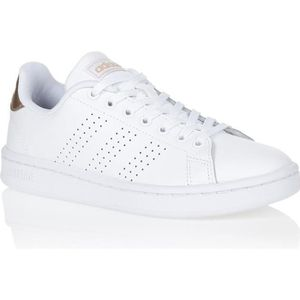 the best attitude 61681 2bf6b BASKET Basket -mode - Sneakers ADIDAS Advantage Blanc Or