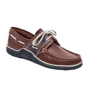 CHAUSSURES BATEAU GLOBEK , Chaussures bateau bicolores pour homme ,