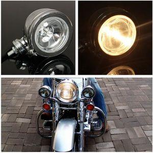 PHARES - OPTIQUES 2Pcs 4'' 12V H3 55W LED Projecteur Phare Lampe Lon