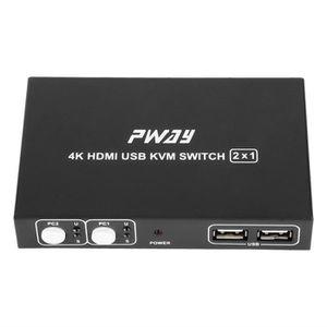 COMMUTATEUR KVM Commutateur HDMI 2 Ports KVM4 4K @ 30Hz Commutateu