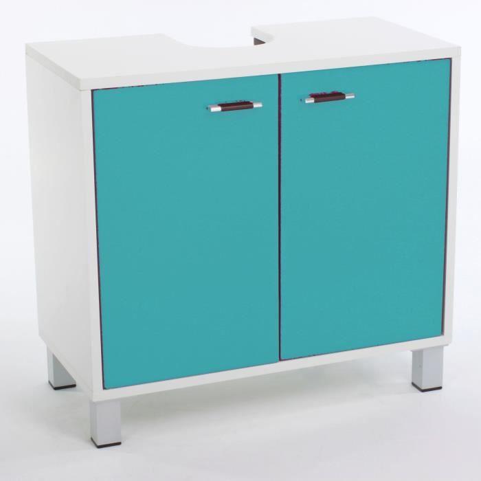 meuble salle de bain bleu - achat / vente meuble salle de bain