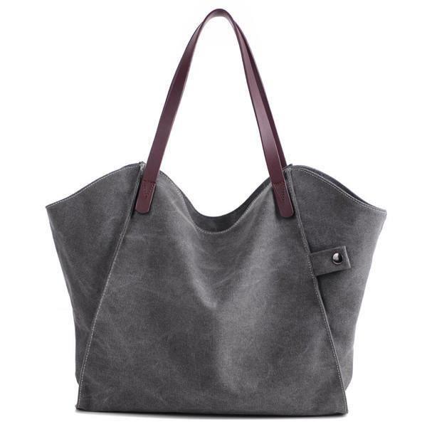 SBBKO063Femmes durable sac à main épais sac à bandoulière occasionnels grande capacité sac à bandoulière Gris