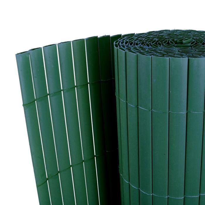 P22 Cloture de jardin PVC Vert Double face 500 x 200 cm ...