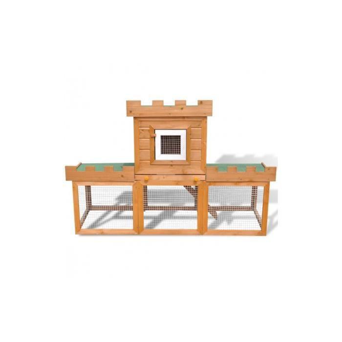 Grande cage clapier ext rieur pour lapins en bois achat for Cage exterieur pour lapin