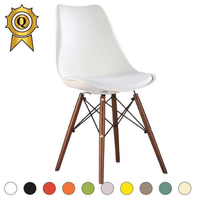 Eiffel Chaise Scandinave Vernis 1 Eames Blanc Inspiration X Bois QBdreCxoW