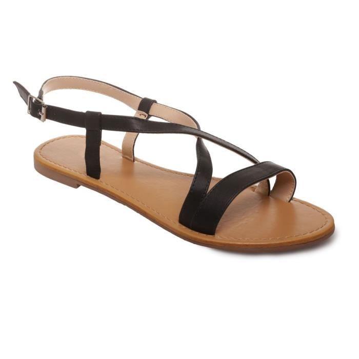 La Modeuse - Sandales plates en PU