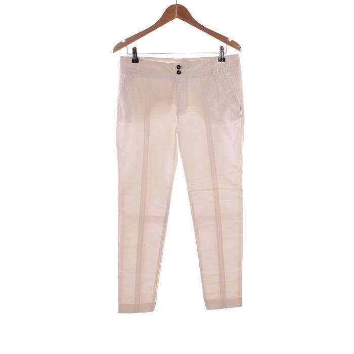 Pantalon ZARA occasion très bon état Blanc Blanc - Achat   Vente ... 2f5473422bdf