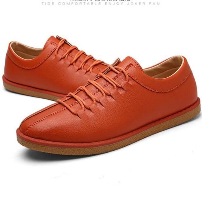 Sneaker hommes résistantes à l'usure Durable Sneakers homme De Marque De Luxe Confortable chaussure cuir Nouvelle Mode Grande Taille