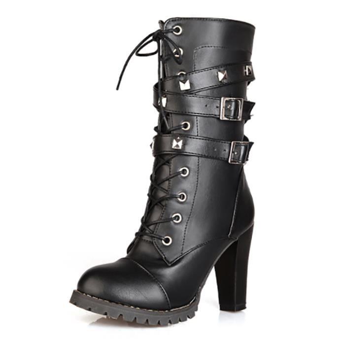 Chaussures Botte femme - Sexy avec lacet et boucle