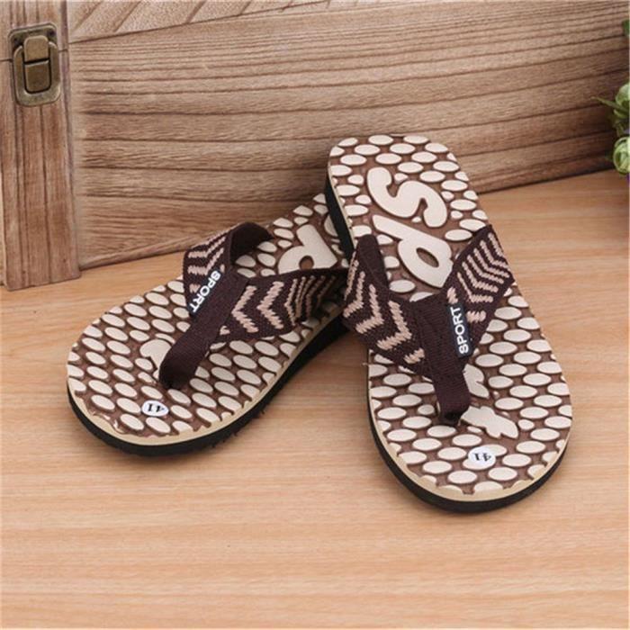 Sandales pour hommes marque de luxe simple et durable exquis mode design extérieur soins à domicile
