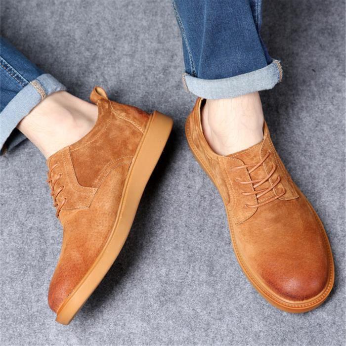 Durable marron Hommes Baiou Moliere Jaune Confortable noir gris Chaussures Ete Moccasin Classique Respirant ATE1qwE7