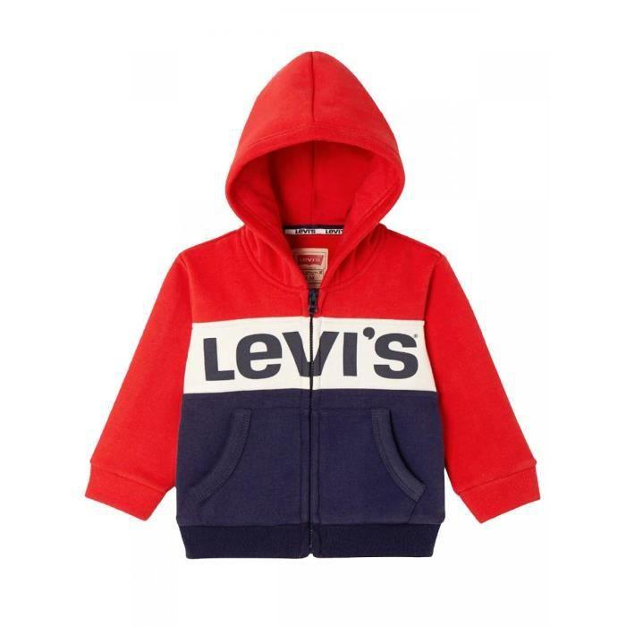 LEVI S-Sweat zippé à capuche rouge bébé garçon levi s Rouge Rouge ... 2ceea05b9e5