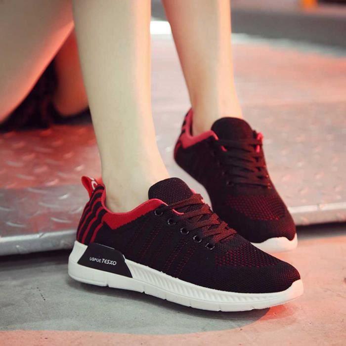 Mocassins Rond Sneaker Mode Course Veberge Chaussures De Bout Femmes Plat Lacent Casual 8198 qZYTwB