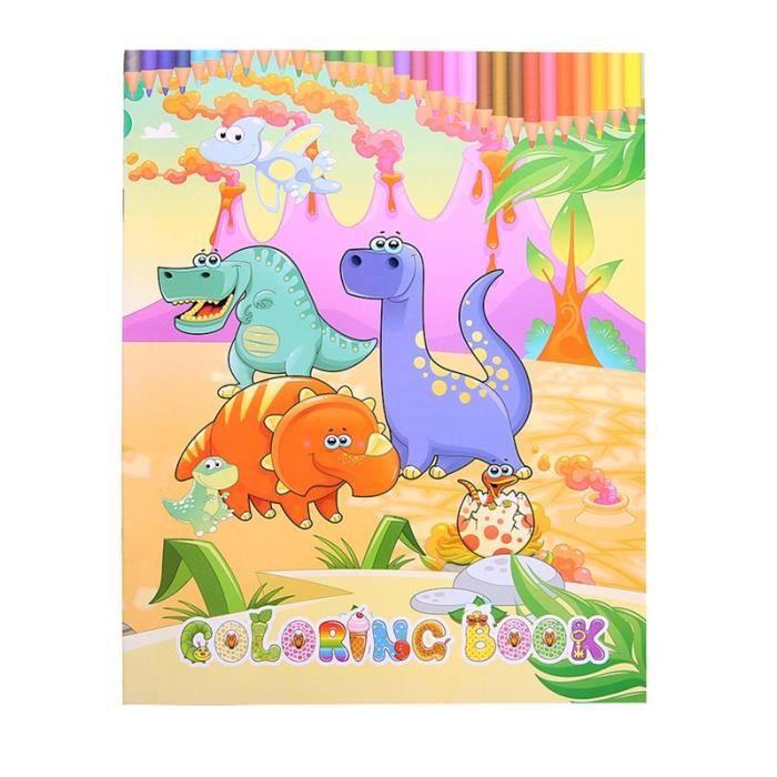 Livre Coloriage Dinosaure.Livre D Apprentissage De Livre De Coloriage De Dinosaure Pour Les