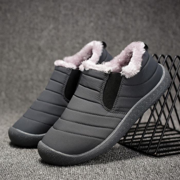 À En Peluche D'homme L'usure Résistant Gris Neige Coton Hle80913391gy40 Bottes D'hiver Courte Chaussures wUTgg