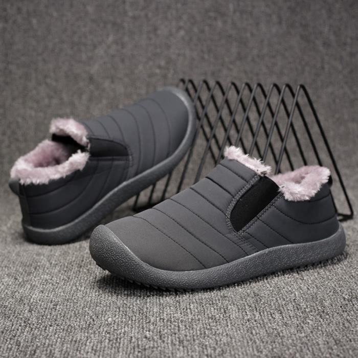 Bottes Résistant D'homme D'hiver En L'usure Hle80913391gy40 Courte Peluche Gris Neige Coton Chaussures À fzwREqcp