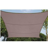 VOILE D'OMBRAGE Toile d'ombrage carrée couleur taupe 5x5m