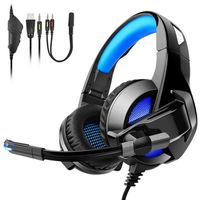 CASQUE AVEC MICROPHONE A3 TENSWALL Casque Gaming PS4, Casque Pliable Anti