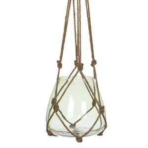 VASE - SOLIFLORE EDELMAN Vase à suspendre Verre - Vert - H120 x D24