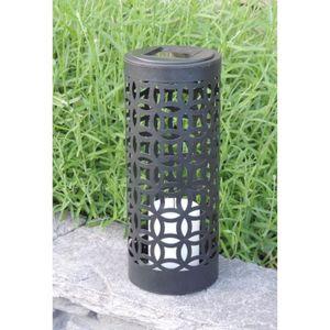 MUNDUS Lanterne solaire Otto en métal et plastique ?10 x H24 cm - Noir