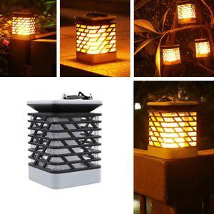 LAMPE DE JARDIN  Lampe solaire de pelouse de flamme LED feu lumière