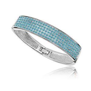 BRACELET - GOURMETTE Bracelet Bangle et Cristal de Swarovski Element Bl