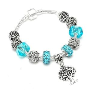 BRACELET - GOURMETTE 19 cm Bracelet Charm Arbre de Vie Style Pandora Ar