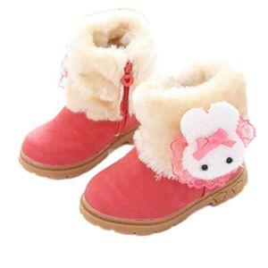 BOTTE Cute Girl Mode Hiver Bébé Enfant Coton Style Boot