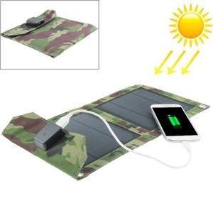 CHARGEUR TÉLÉPHONE Chargeur solaire 5W Portable et pliable