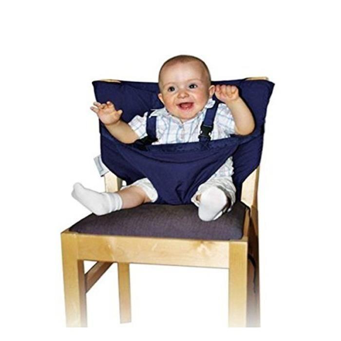Housse de siège Bébé sangle de sécurité de la chaise Réhausseur pour chaise  Harnais -Bleu marin cc94465d1ff