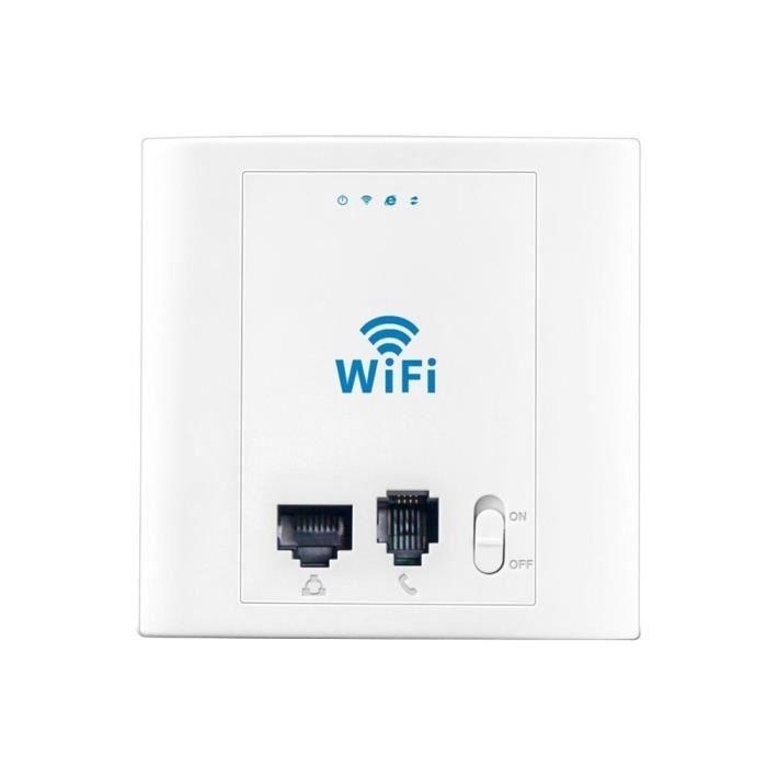 Prise murale avec point d'accès Wifi + Port LAN Ethernet + Prise Téléphone (24V PoE)