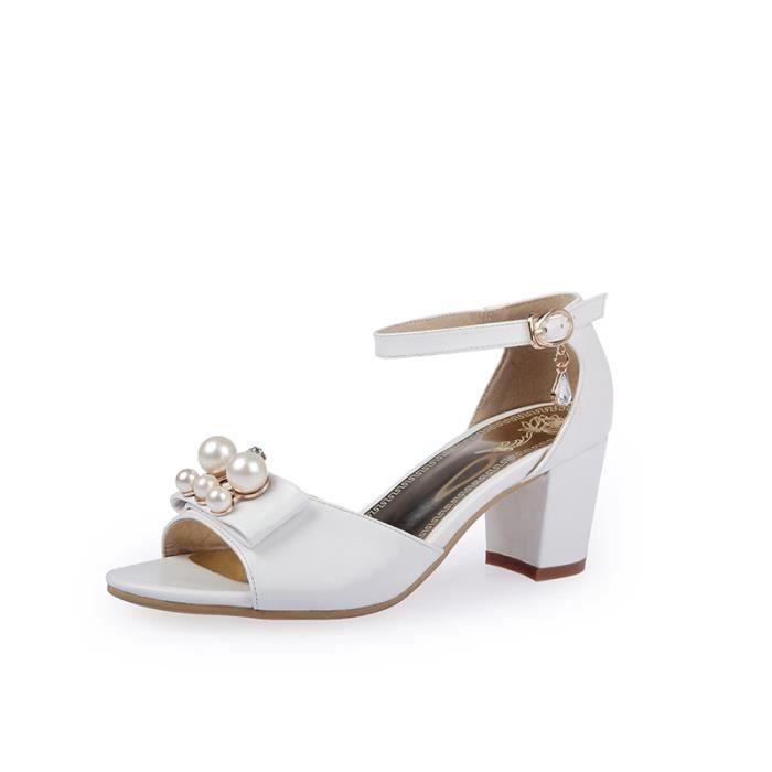Sandales femmes Mode à bout outalons hauts SIMP...