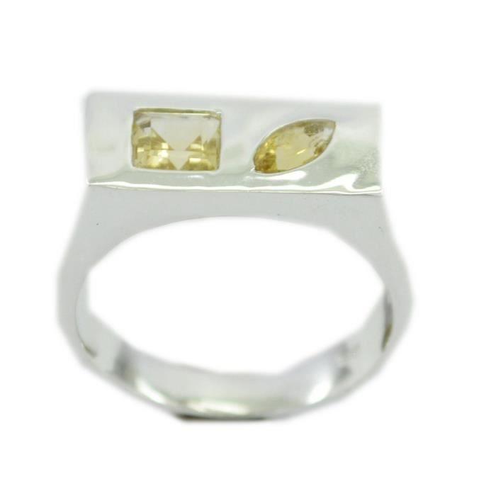 Bague citrine - anneau jaune - bague en argent - anneau dargent jaune