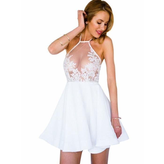 robe des femmes évider dos nu dos nu solide robe de aline