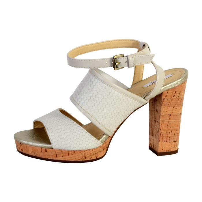 fd19fcd55ab2 Sandale Geox D Mauvelle A Blanc Blanc - Achat   Vente sandale - nu ...