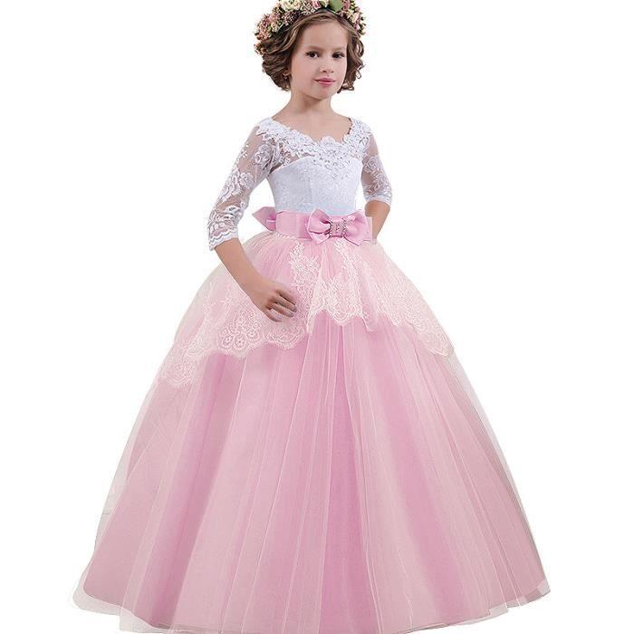 grand choix de 298b8 9dc4d Princesse fille robe de demoiselle Mariage et Cérémonie robe longue enfants