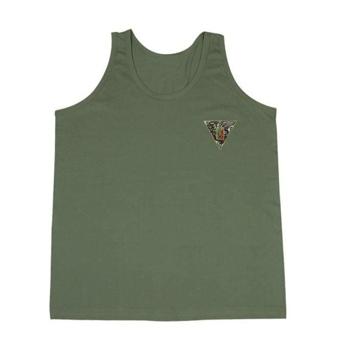a0b6b627a0508 DEBARDEUR VERT BRODE 2 REP - Couleur:Vert Taille:XL Vert Vert ...