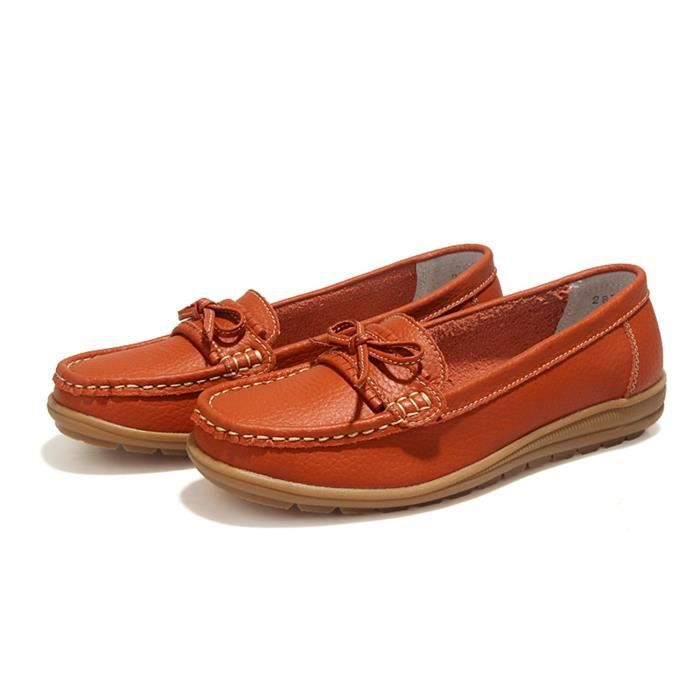 Driving Loafers Slip On Soft Walk Flats Moccasins Anti-skid Boat Shoes HEG4B Taille-38 1-2