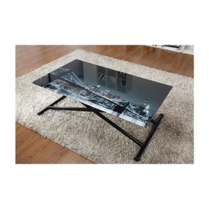 Table basse stand up amazing table basse reglable for Table basse escamotable