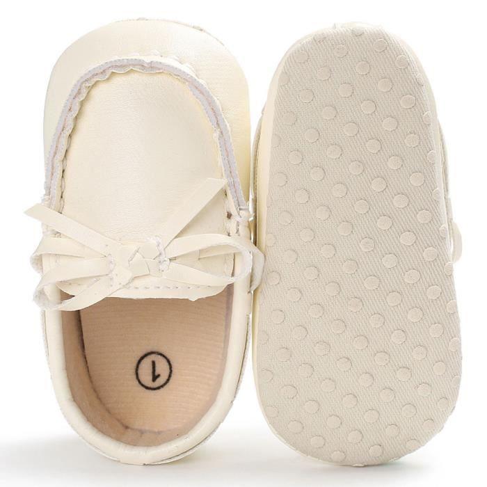 BOTTE Enfants Bébé Garçon Fille Chaussures En Cuir Souple Bottom Chaussures Pour Tout-Petits@BlancHM