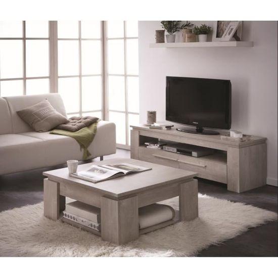 grand choix de f7ea2 87202 Ensemble table basse + meuble TV SEGUR 140cm