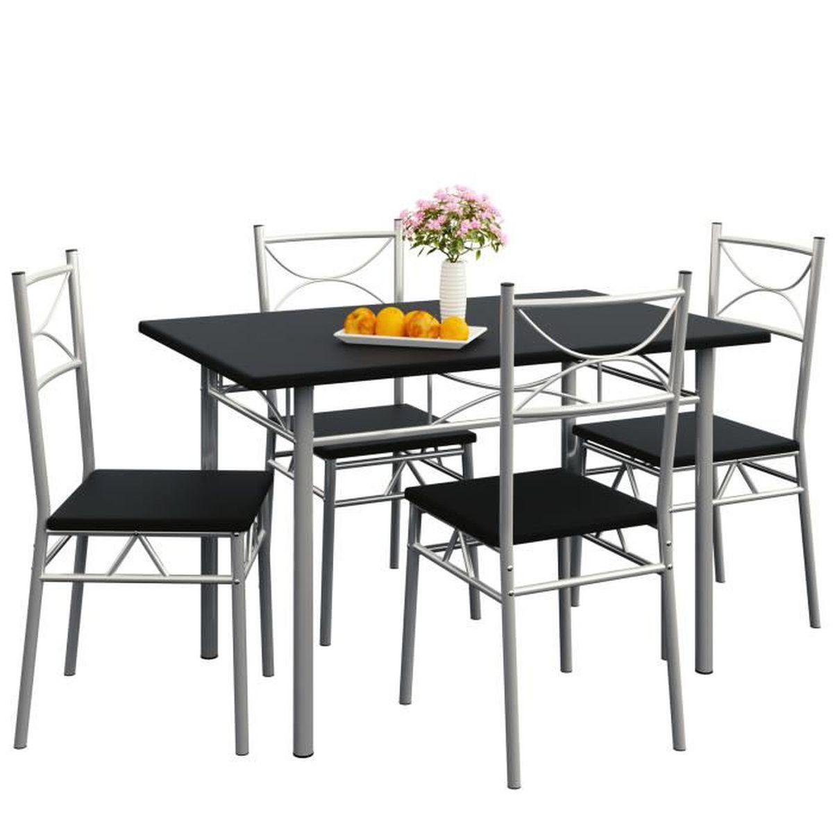 Table Et Chaise De Cuisine Noire Achat Vente Pas Cher