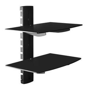 FIXATION - SUPPORT TV Noir Tablette murale pour périphériques audio-vidé